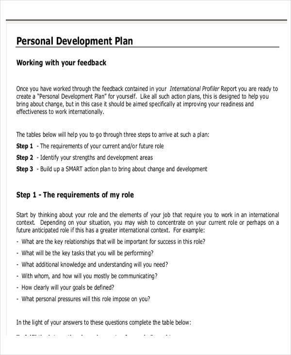 Personal Business Plan Template 7 Free Word Pdf Format