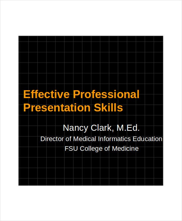 free professional presentation template