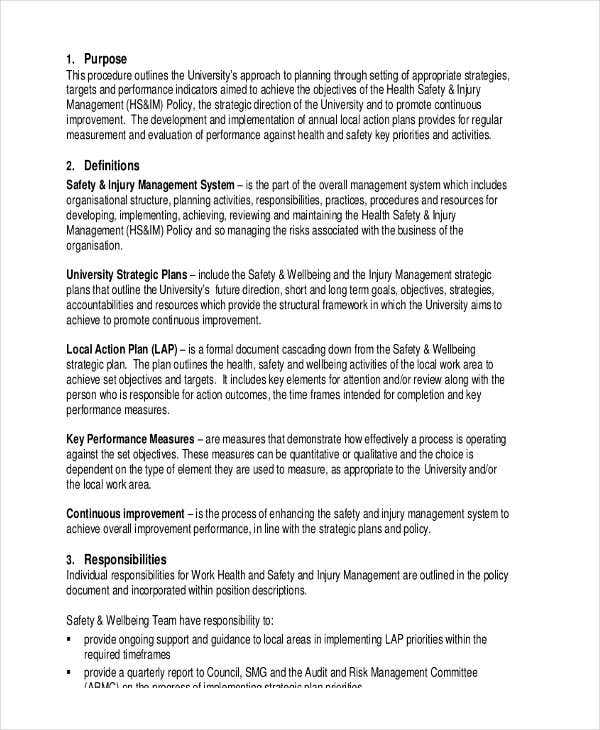 Performance Action Plan Templates   Free Word Pdf Format