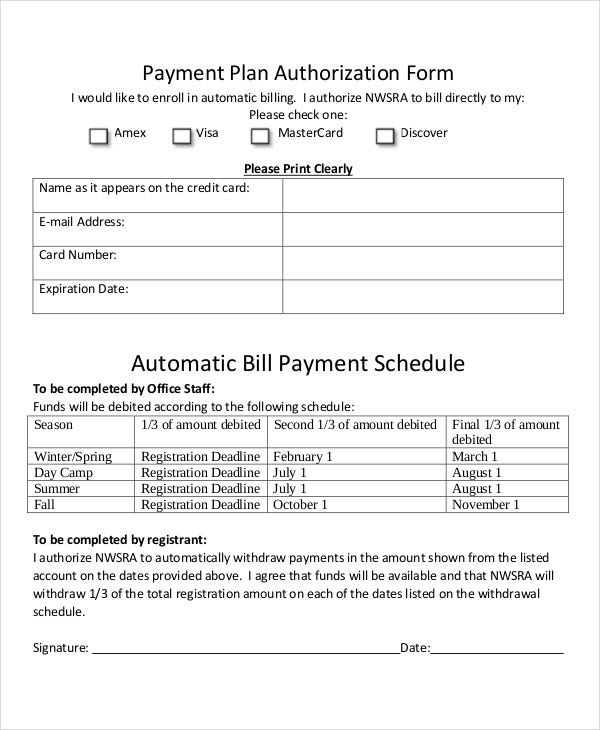 bill payment schedule template 12 free word pdf format download