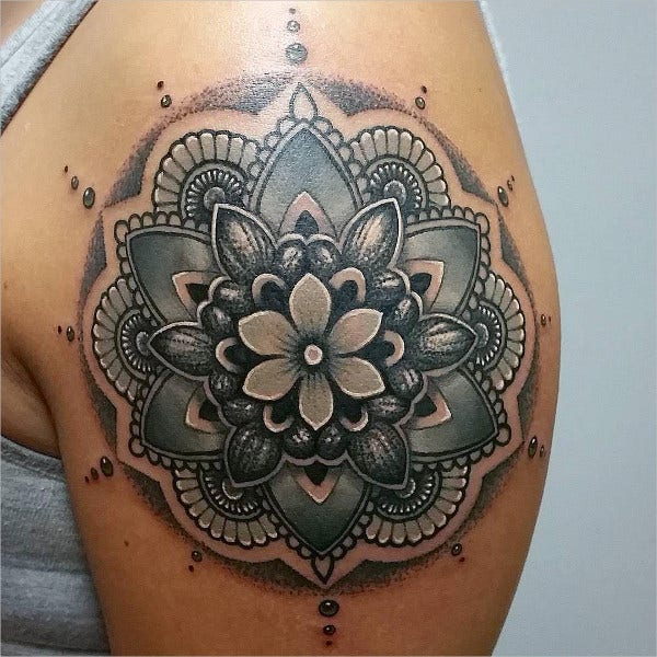 mandala flower tattoo1