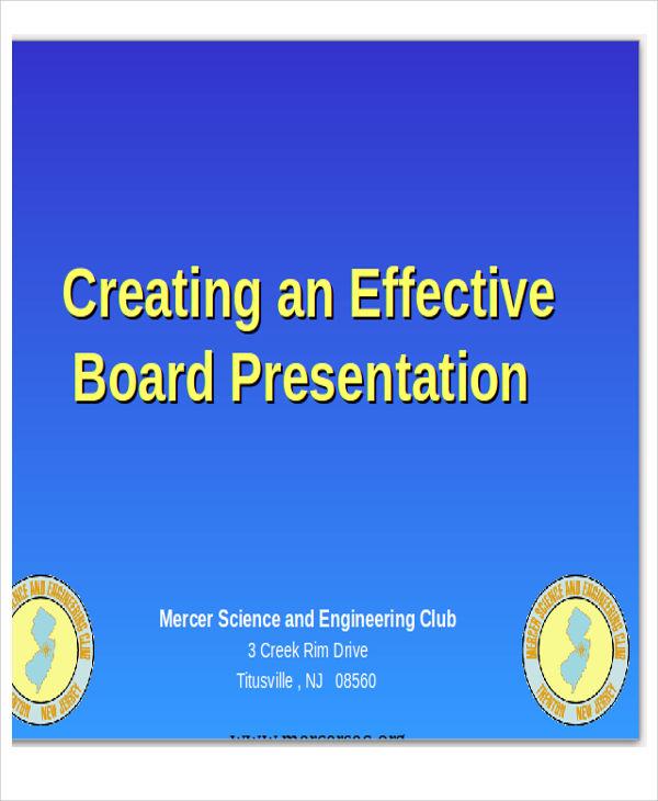 free board presentation template
