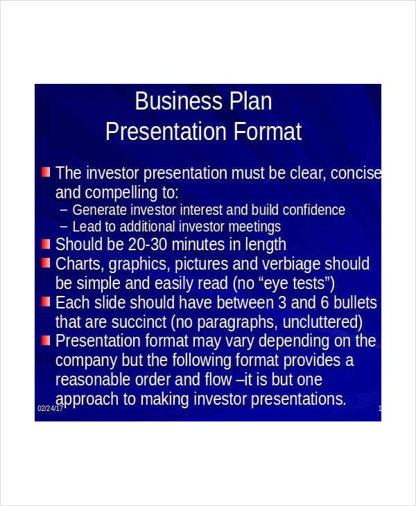 professional business presentation template