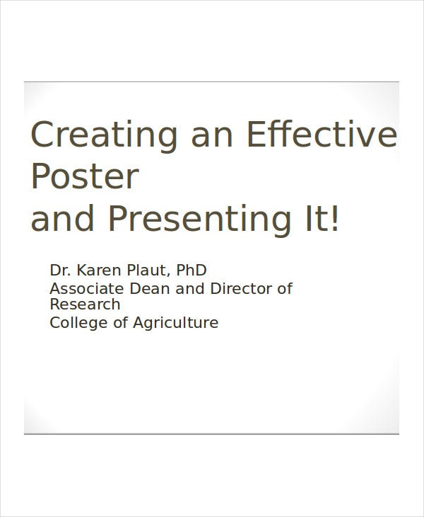 professional poster presentation template