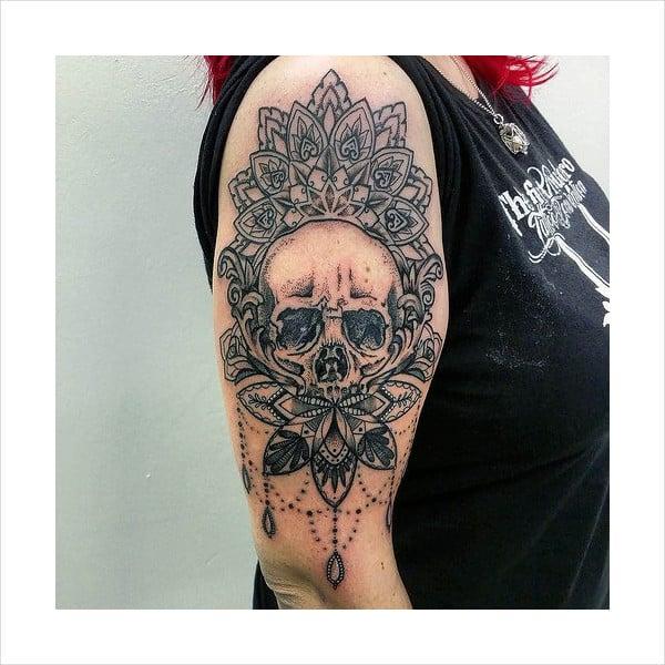 Skull Mandala Tattoo