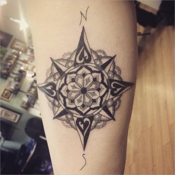 Vintage Mandala Tattoo