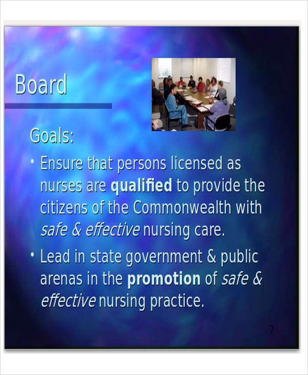 board powerpoint presentation template