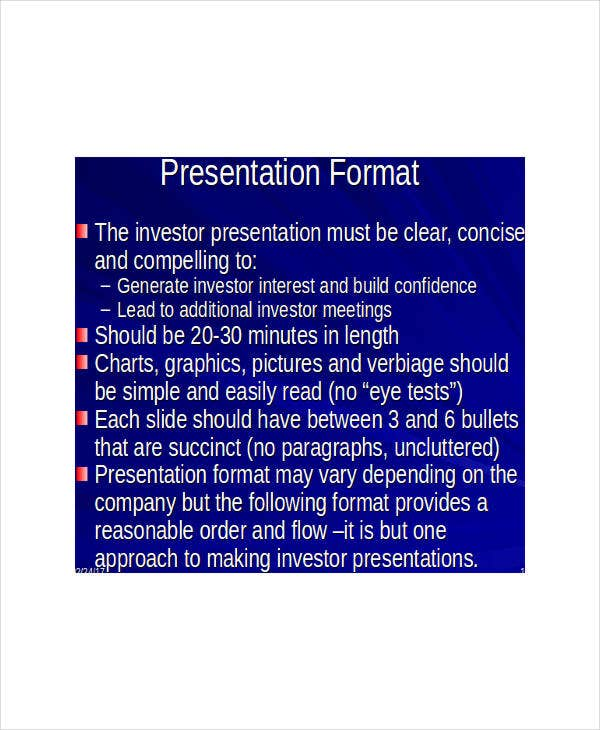 corporate presentation slide template