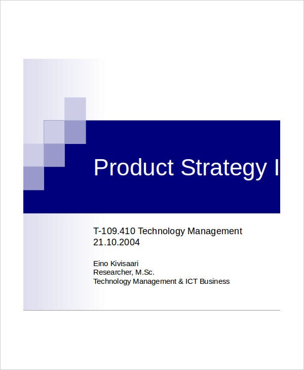 product strategy presentation template