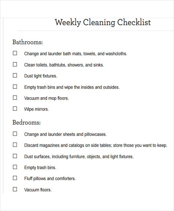 Store Cleaning Checklist Kleobeachfixco - Store schedule template