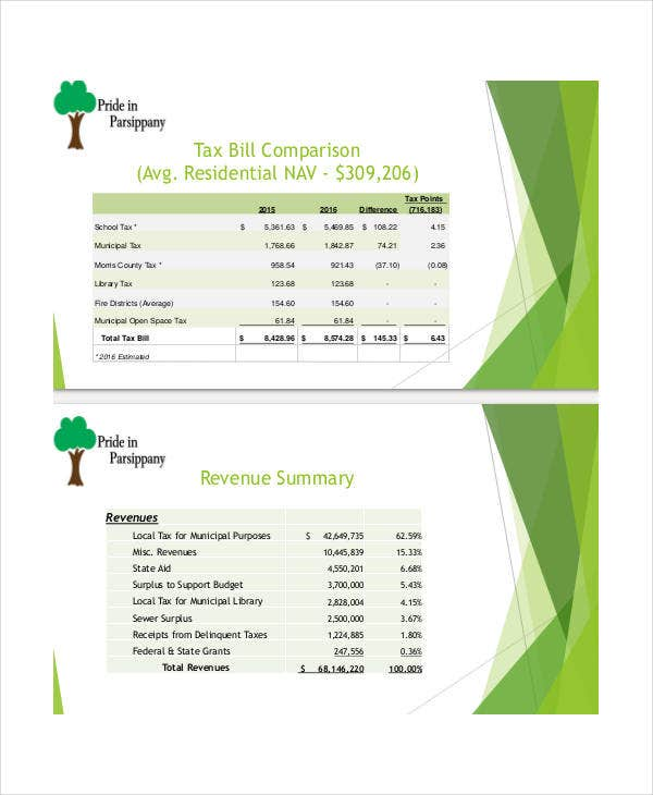 municipal budget presentation template
