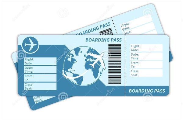 Free Travel Ticket Template