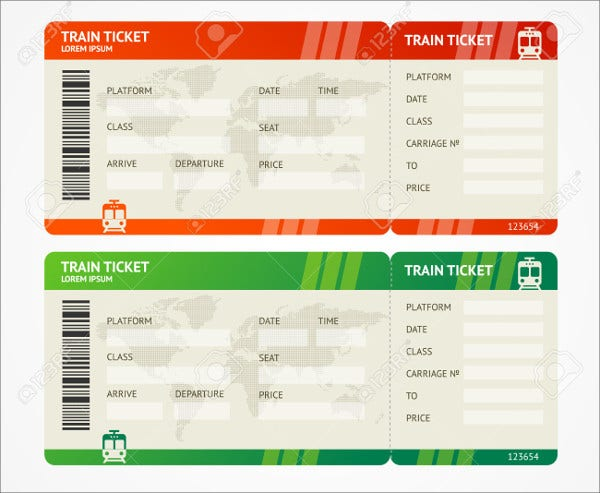 6 Travel Ticket Templates Free PSD AI Vector EPS Format – Plane Ticket Template
