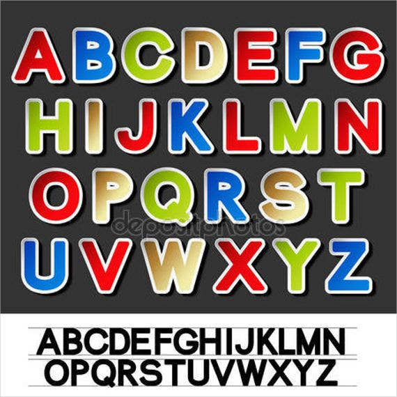 vector-alphabet-stickers