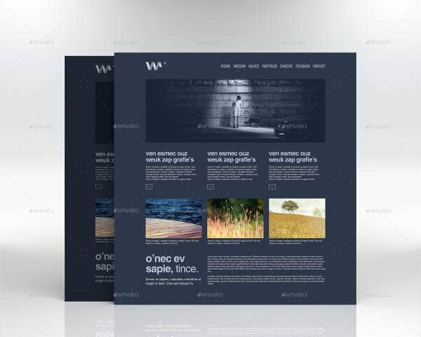 website screen mockup