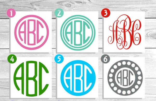 9 monogram stickers free psd ai vector eps format. Black Bedroom Furniture Sets. Home Design Ideas