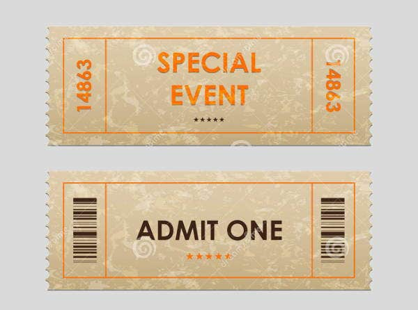 Entry Ticket Template  Entry Ticket Template