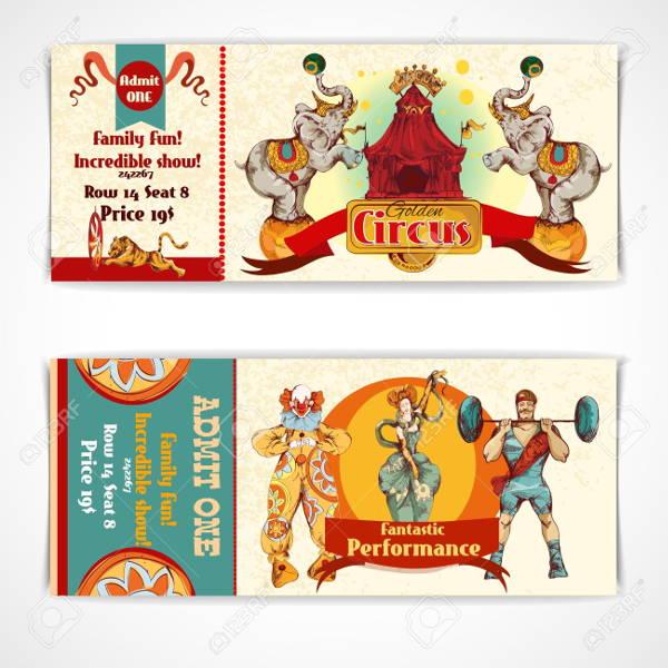 circus entrance ticket template