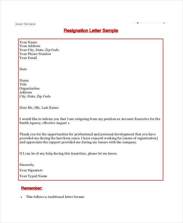 resignation letter templates 7 free sample example format downlod free premium templates. Black Bedroom Furniture Sets. Home Design Ideas