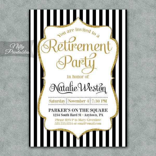 8 Retirement Party Invitation Design Template Sample Example – Surprise Retirement Party Invitation
