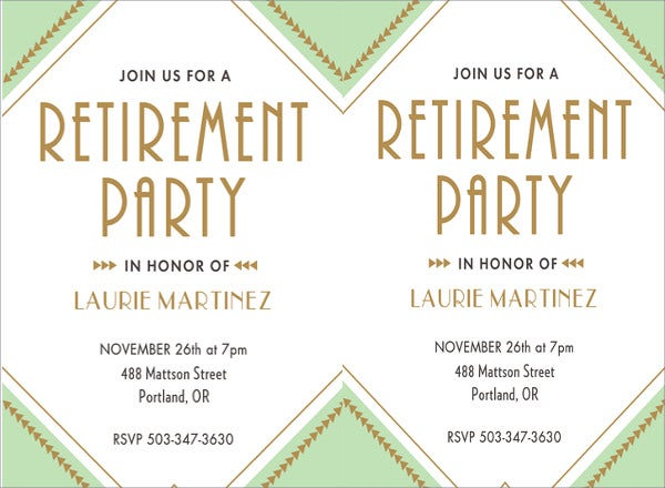 13  retirement party invitations