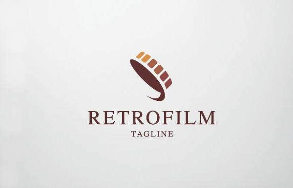 retro film logo
