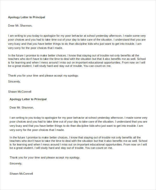 Apology Letter Templates  Free Word Pdf Documents General Letter Of