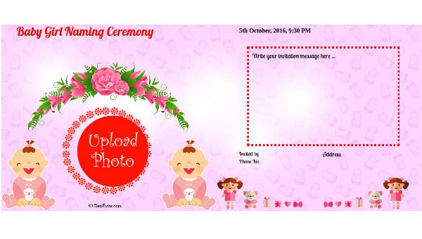 ceremony invitation card template