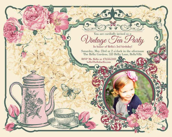 Vintage Invitation Templates  Free Sample Example Design