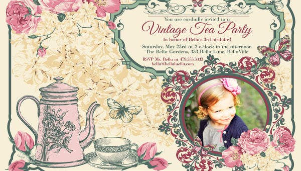 9 Vintage Invitation Templates Psd Eps Ai Free