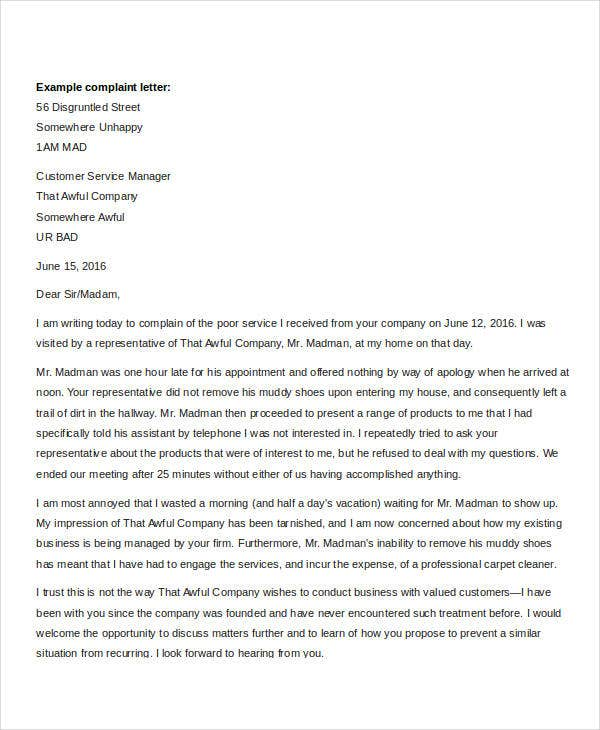 customer complaint letter customer complaints old mutual recognizes that every customer has a right to complain your complaint must be in writing letter fax e mail
