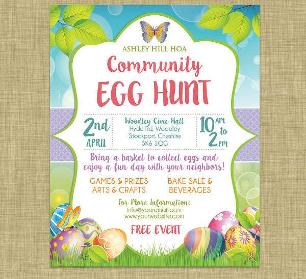 Easter Church Invitation Template  Invatation Template