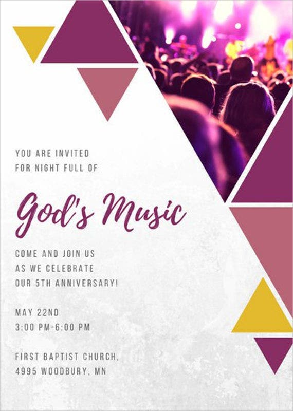 sample invitation for church anniversary