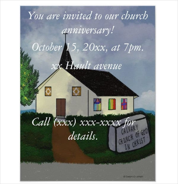 church-anniversary-invitation-template