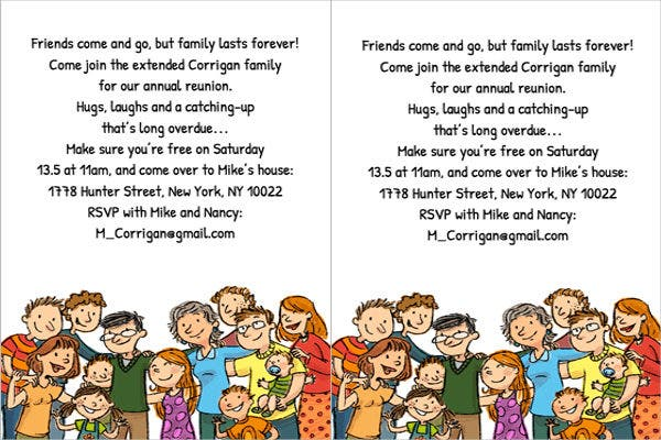 6 Reunion Invitation Templates Free Editable PSD AI Vector – Family Reunion Invitation