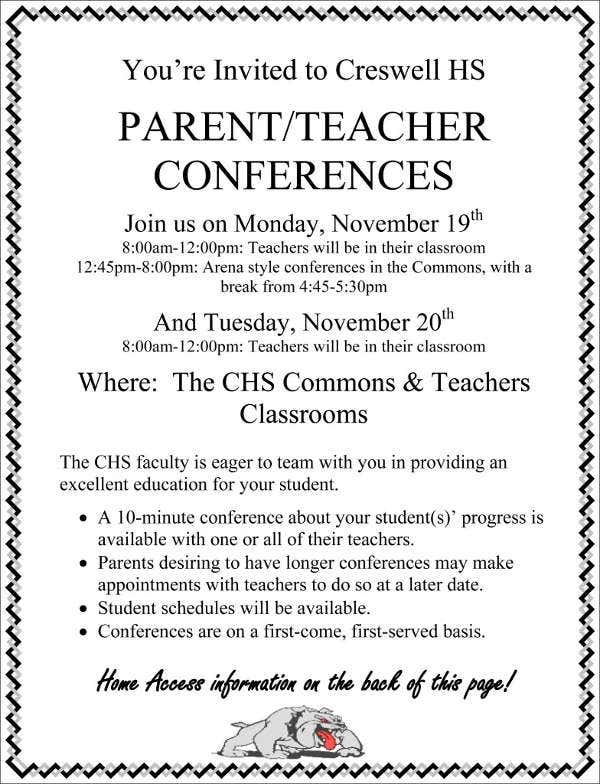 parent-teacher-conference-invitation-template
