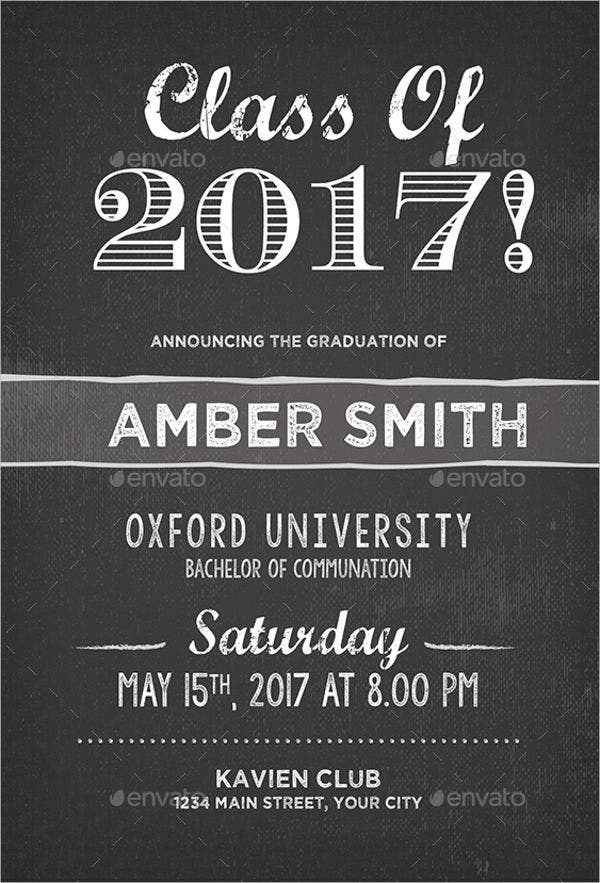 Graduation Party Invitations Design Template Sample Example - Party invitation template: graduation party invitation postcard templates free