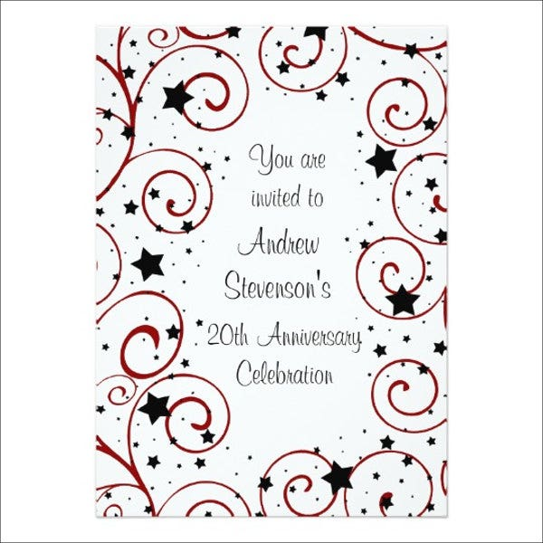 employee anniversary party invitation