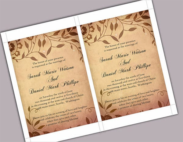 8 rustic invitation templates free premium design templates free premium templates. Black Bedroom Furniture Sets. Home Design Ideas