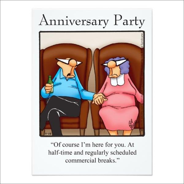 funny anniversary party invitation