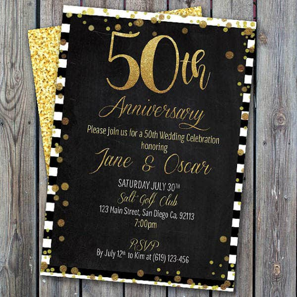 printable anniversary party invitation