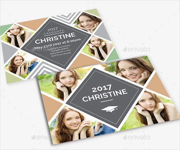 rustic graduation invitation template