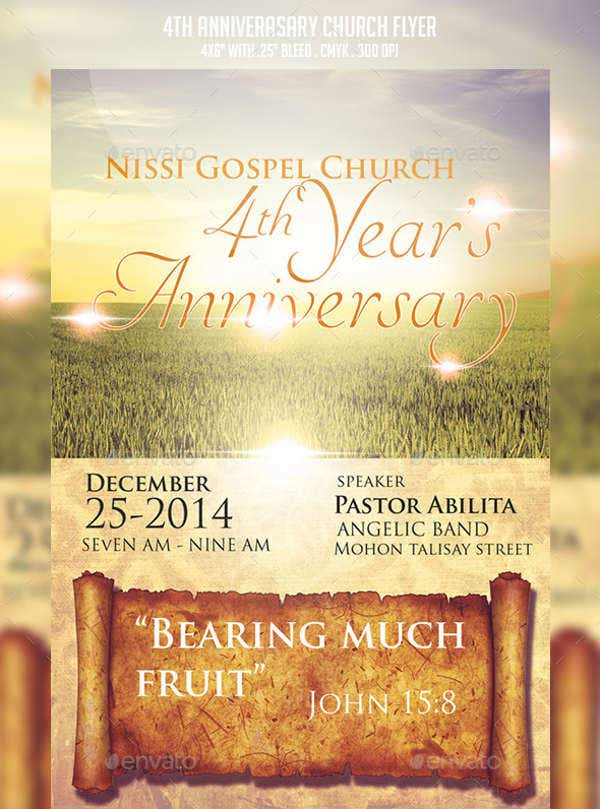 6 church invitation samples free editable psd ai vector eps church anniversary invitation template stopboris Image collections