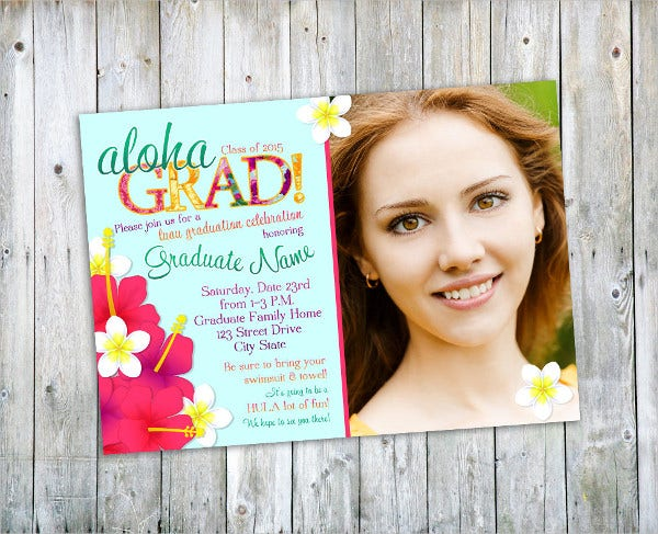 Graduation Photo Party Invitation