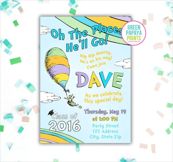 Elementary Graduation Party Invitation