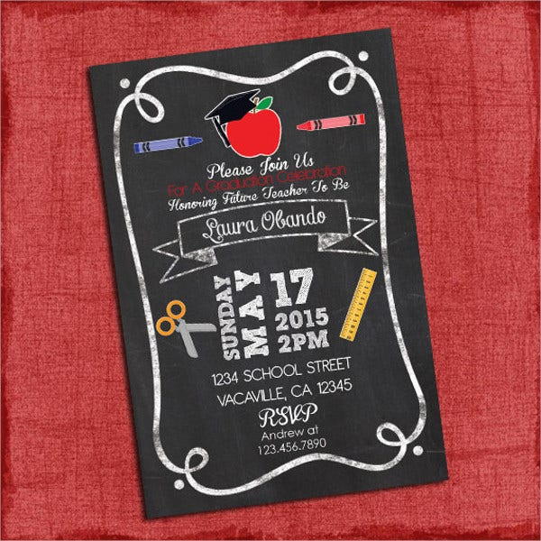 Teacher Graduation Party Invitation