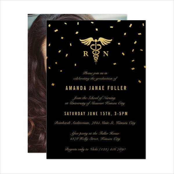Nursing Graduation Party Invitation