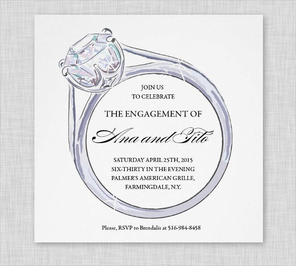 Engagement Party Invitation 11 Design Template Sample