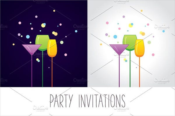 12  cocktail party invitations