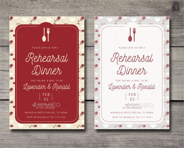 Engagement Dinner Party Invitation